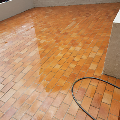after backyard tiles